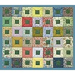 Bento Box Quilt Pattern by Tikki Patchwork. Japanese style folded square quilt project