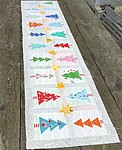 Christmas Trees & Stars Table Runner PDF Pattern patchwork quilt