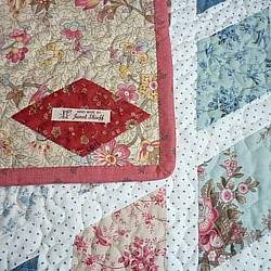 jane austen patchwork quilt back side and label