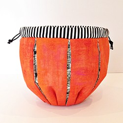 Pumpkin drawstring bag Pattern sewing halloween