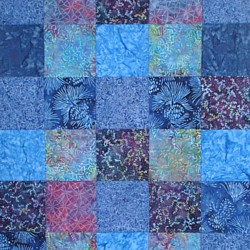 batik cathedral window quilt japanese fabric folding at Tikki London