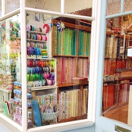 Tikki is a brick and mortar patchwork shop in the beautiful suburb of Kew Gardens in West London, England, Tikki Limited, 293 Sandycombe Road, London TW9 3LU