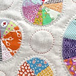 Tikki Wheels Applique patchwork circle quilt or cushion pattern pdf