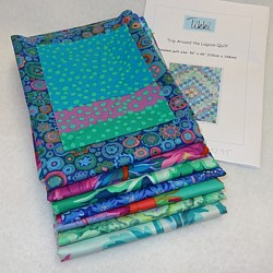 Trip around the Lagoon Quilt Fabric Kit turquoise aqua Kaffe Fassett quilt fabric kit
