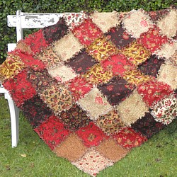 Ragged edge Vintage Charm Quilt Fabric Kit chenille patchwork quilt as you go quilt
